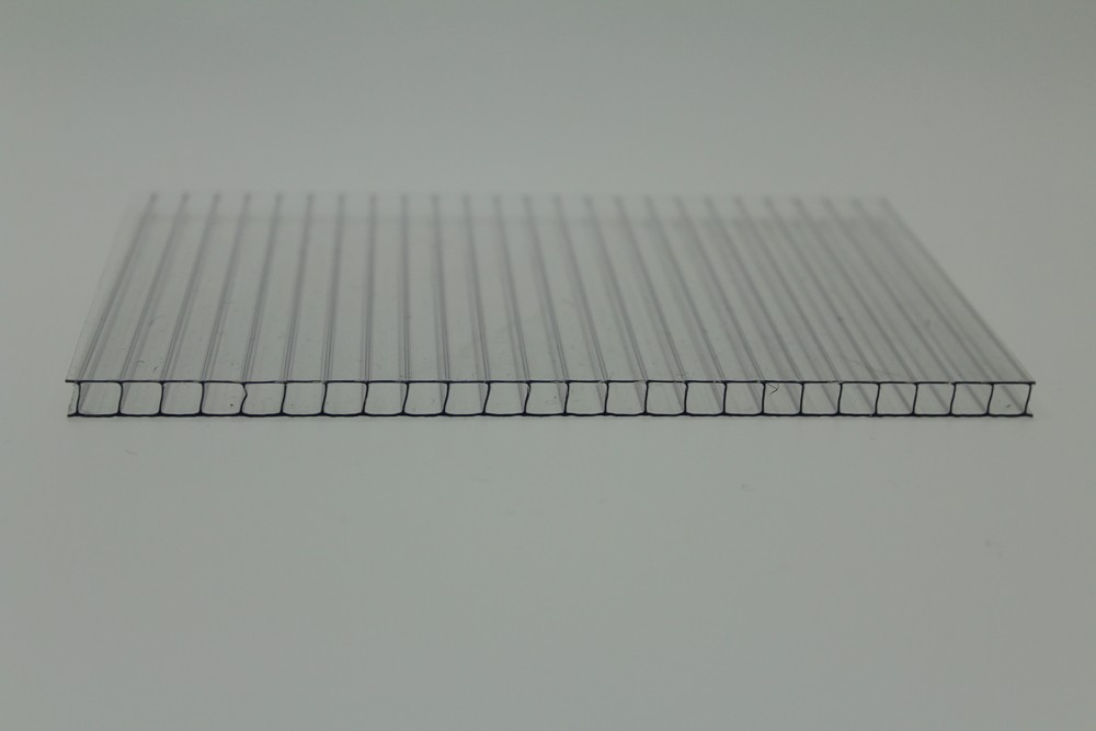 Twin Wall Polycarbonate Sheet 6mm 1 4 Clear Opal And Bronze Ecologic Technologies Inc