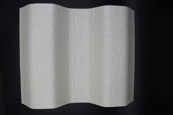 walkable fiberglass sheet - 16oz - fire rated - opaque stone white