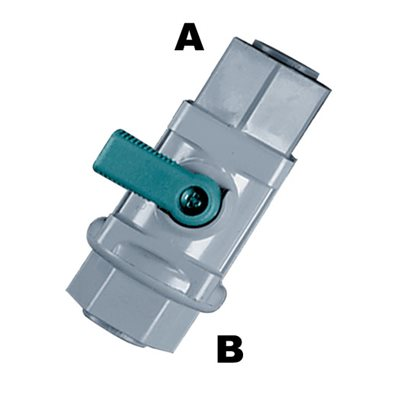 plastic inline quick connect ball valve