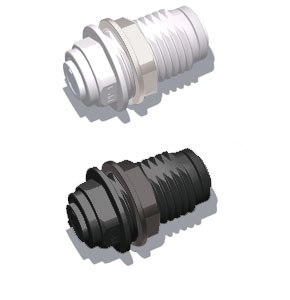 plastic quick connect bulkhead fitting