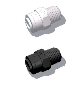 plastic quick connect male threaded adaptor