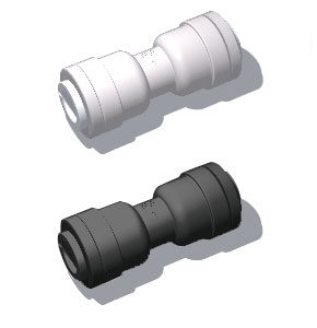 plastic quick connect straight union fitting