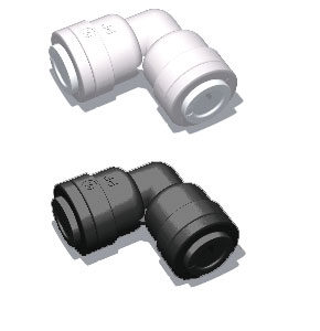 plastic quick connect union elbow fitting